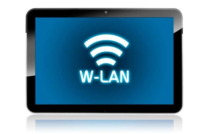 WLAN Verbindung Tablet